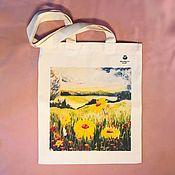Сумки и аксессуары handmade. Livemaster - original item shopper: WILD FLOWERS, cotton, linen, author`s print. Handmade.
