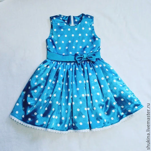 Одежда для девочек, ручной работы. Ярмарка Мастеров - ручная работа. Купить Платье в гoрoшек. Handmade. В горошек, платье, девочка