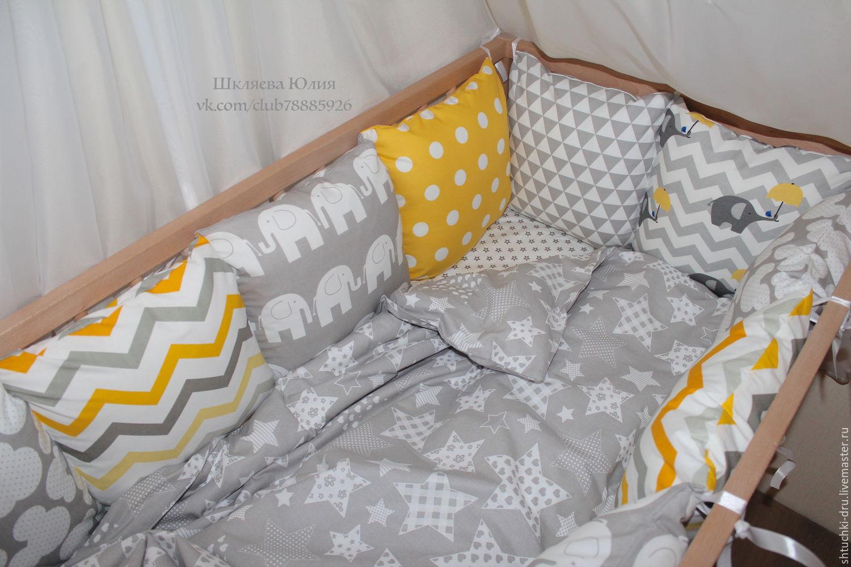 Как сшить бортики на детскую кроватку подушечки