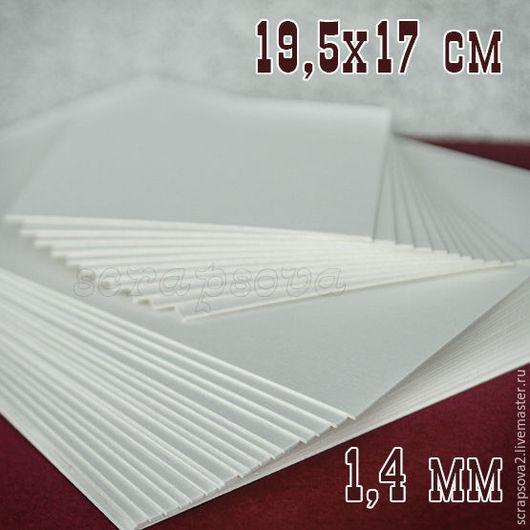 Открытки и скрапбукинг ручной работы. Ярмарка Мастеров - ручная работа. Купить Картон пивной 1,4 мм 19,5х17 см. Handmade.