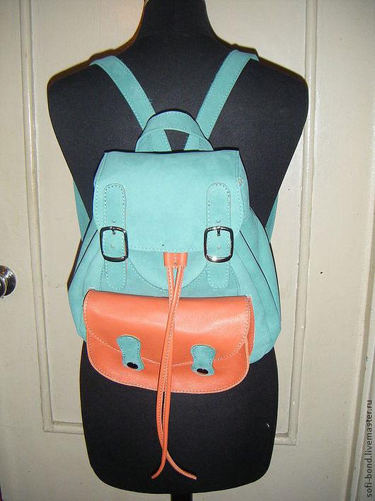 Рюкзаки ручной работы. Ярмарка Мастеров - ручная работа. Купить рюкзак  женский кожаный. Handmade. Однотонный, авторская ручная работа