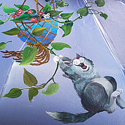 """Зонты ручной работы. Ярмарка Мастеров - ручная работа Зонт с росписью """"Озорное настроение"""". Handmade."""