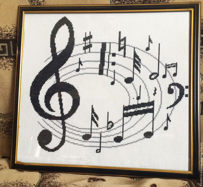 Музыка вышивка крестом схема