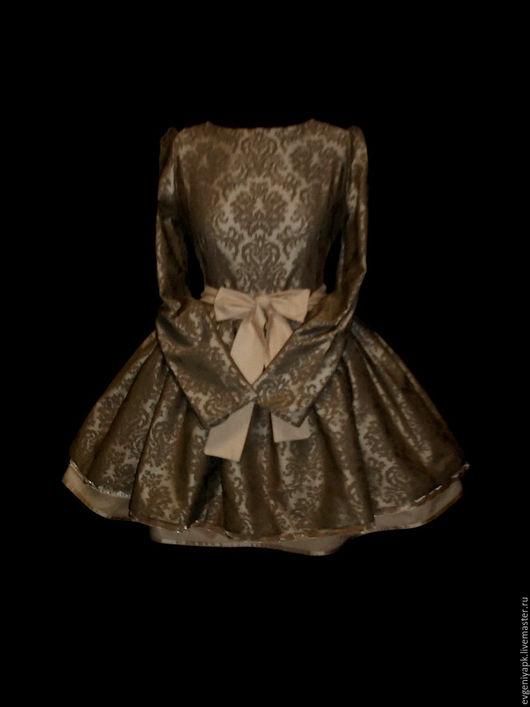 """Платья ручной работы. Ярмарка Мастеров - ручная работа. Купить Платье """"Камили"""" кофейное. Handmade. Бежевый, внимание, красивое платье"""