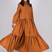 Одежда handmade. Livemaster - original item Bright, stylish cotton shirt dress - KA0195CT. Handmade.