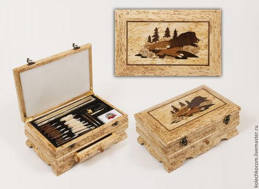 Подарки для мужчин, ручной работы. Ярмарка Мастеров - ручная работа. Купить Оружейный набор. Handmade. Коричневый, карельская береза