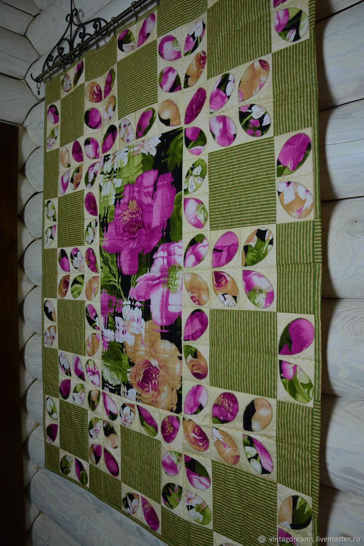 Patchwork 'Flower reflection'patchwork blanket, Blanket, Rostov-on-Don,  Фото №1