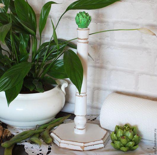 Кухня ручной работы. Ярмарка Мастеров - ручная работа. Купить Artichaut подставка для полотенец. Handmade. Зеленый, кухня, кухня Прованс