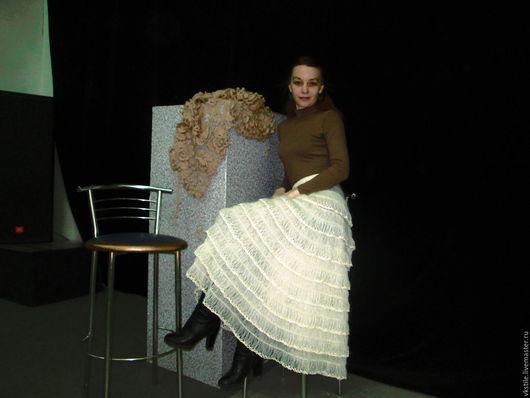 Юбки ручной работы. Ярмарка Мастеров - ручная работа. Купить Юбка   Виолетта. Handmade. Лимонный, юбка длинная, юбка на зиму