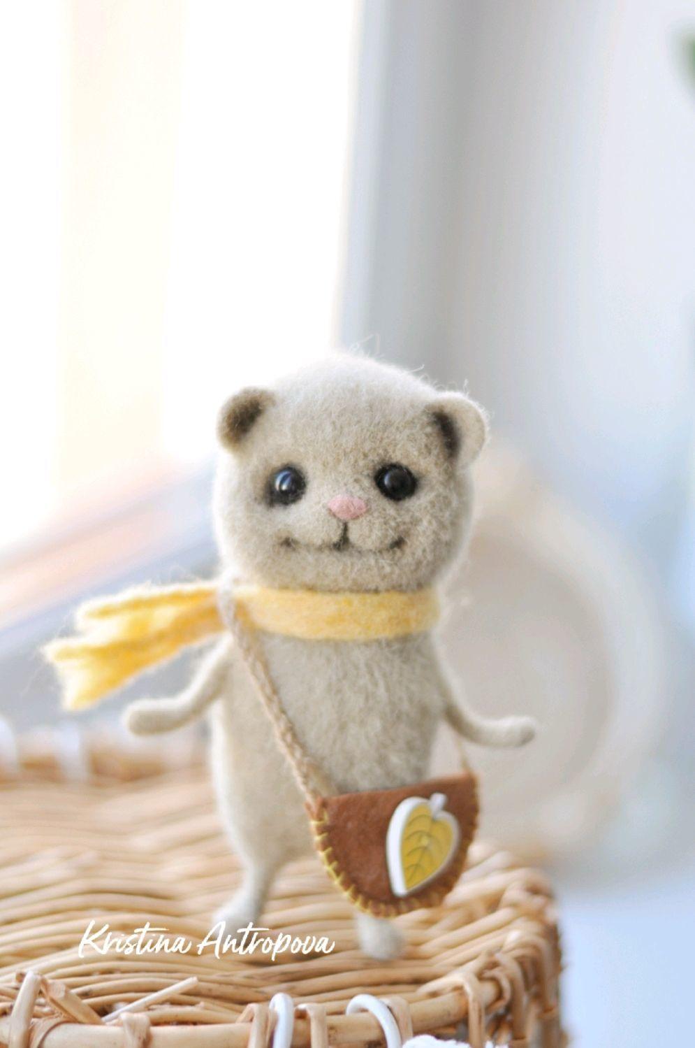 Мышка Поля, валяная игрушка, Войлочная игрушка, Архангельск,  Фото №1