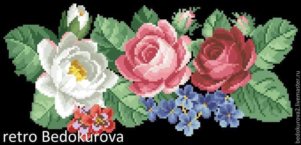 Купить Ретро схема Розы 14