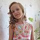Одежда для девочек, ручной работы. платье для девочки Диковинные цветы хлопковое. Татьяна Лоренц (Lapochki-dochki). Ярмарка Мастеров.