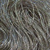 Ткани ручной работы. Ярмарка Мастеров - ручная работа Трунцал (витая канитель)  серебро. Handmade.