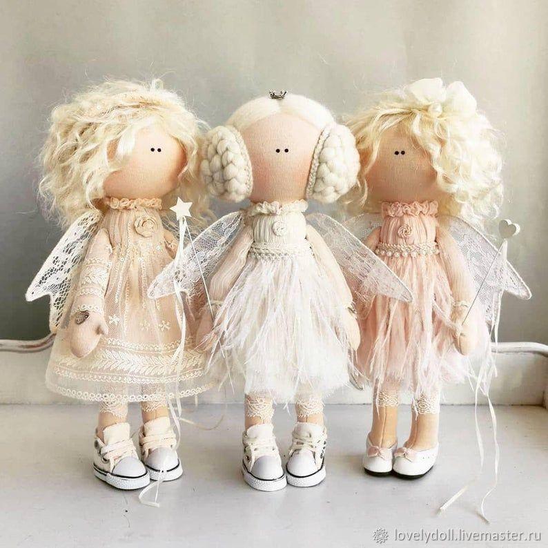 Angel a Trio of angels Textile doll handmade, Dolls, Kiev,  Фото №1