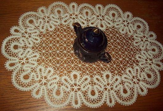 """Текстиль, ковры ручной работы. Ярмарка Мастеров - ручная работа. Купить Овальная салфетка """"Вологодские кружева"""" 193. Handmade. Кружево"""