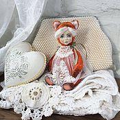 Куклы и игрушки ручной работы. Ярмарка Мастеров - ручная работа Тедди-долл кошечка Орландо. Handmade.