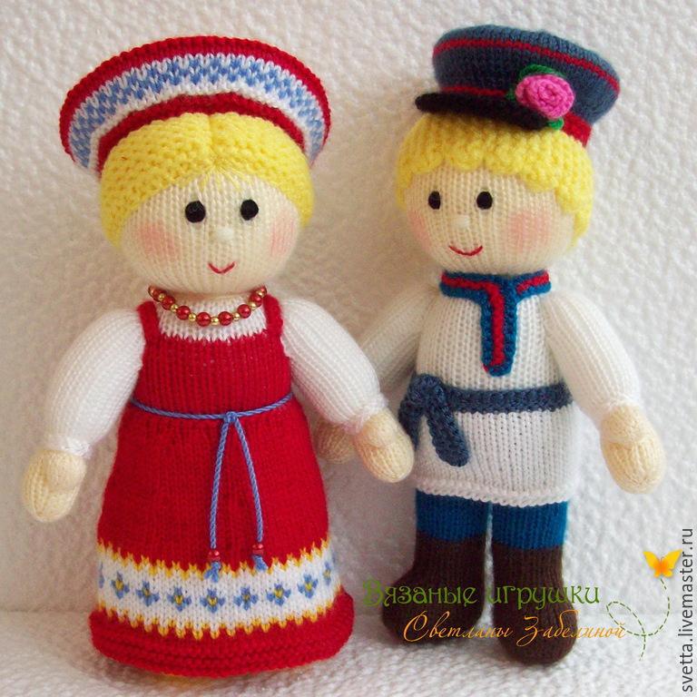 """Иван да Марья"" вязаные куклы, Мягкие игрушки, Анапа,  Фото №1"