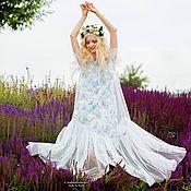 Одежда ручной работы. Ярмарка Мастеров - ручная работа Платье из шелка с принтом. Handmade.