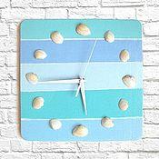 Для дома и интерьера handmade. Livemaster - original item Marine wooden wall clock, hand painted. Handmade.