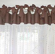 """Для дома и интерьера ручной работы. Ярмарка Мастеров - ручная работа """"Шоколадный дождь""""    Шторы на завязках. Handmade."""