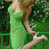 """Одежда ручной работы. Ярмарка Мастеров - ручная работа Шелковое коктельное платье """"Ландыш"""". Handmade."""