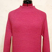 Одежда handmade. Livemaster - original item Pink Merino sweater with Raglan sleeve. Handmade.