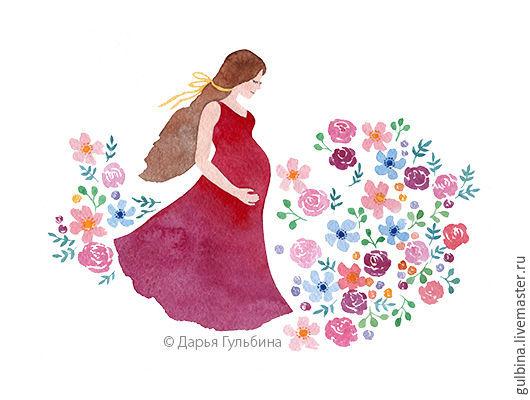 Открытки на все случаи жизни ручной работы. Ярмарка Мастеров - ручная работа. Купить Прекрасное ожидание. Две открытки для беременных. Handmade.