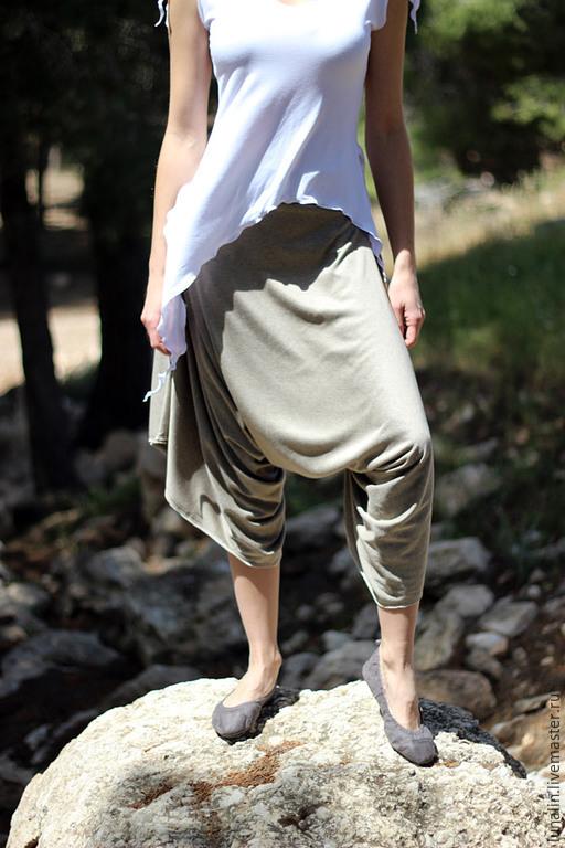 """Брюки, шорты ручной работы. Ярмарка Мастеров - ручная работа. Купить Трикотажные штанцы """"Цейлон"""". Handmade. Афгани, зуавы, бежевый"""