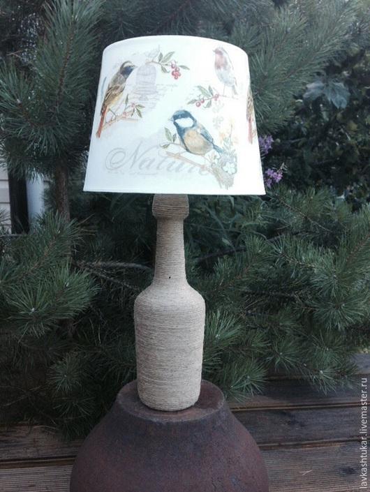 """Освещение ручной работы. Ярмарка Мастеров - ручная работа. Купить Настольный светильник """"Лесные пташки"""".Прованс, шебби, кантри, винтаж.. Handmade."""