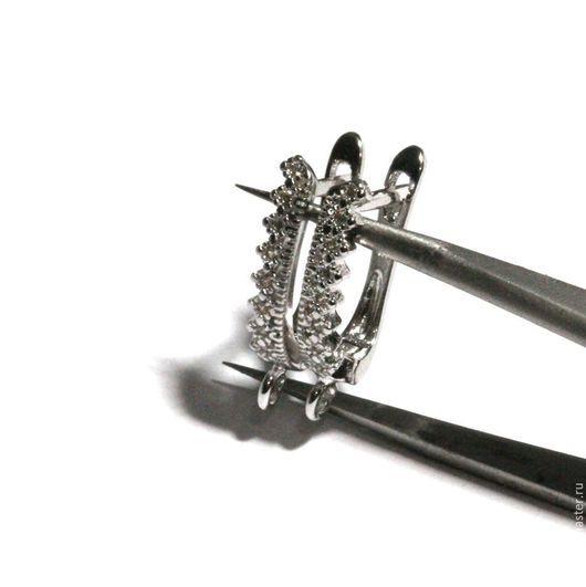 Для украшений ручной работы. Ярмарка Мастеров - ручная работа. Купить Швензы родированные со стразами английский замок 52. Handmade.