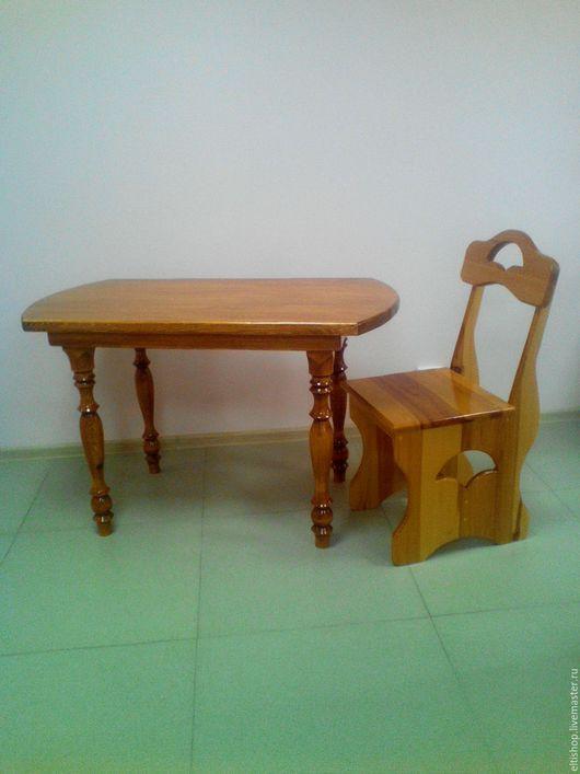 Стол для кухни, размер 68см*125см, высота 72см  - цена 12000руб.Стул со спинкой, размеры: высота спинки 91см, высота сиденья 46, размер сиденья 40*37см - цена 2600руб.