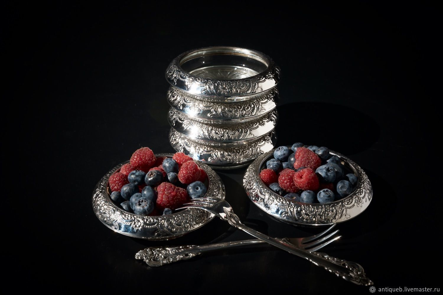 Rosette of silver, Dish, Moscow,  Фото №1