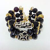 Украшения handmade. Livemaster - original item Bracelet made of crystal beads and Dzi ethnic style Luxury 2. Handmade.
