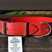 Для домашних животных, handmade. Livemaster - original item Collar for dogs large breeds. Handmade.