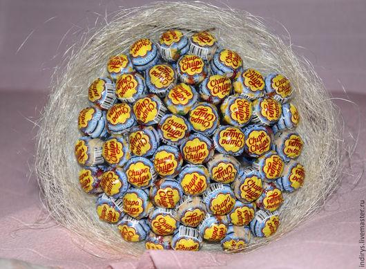 Персональные подарки ручной работы. Ярмарка Мастеров - ручная работа. Купить Букет из конфет 51 чупа чупс Букет из чупа чупсов. Handmade.