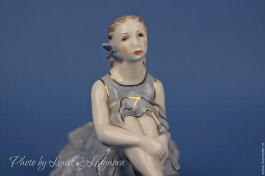 """Винтажные предметы интерьера. Ярмарка Мастеров - ручная работа. Купить Фарфоровая статуэтка """"Балерина"""". Handmade. Белый, фарфор, подарок девушке"""