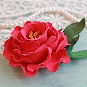 Украшения ручной работы. Ярмарка Мастеров - ручная работа Брошь-заколка из фоамирана Цветок. Handmade.