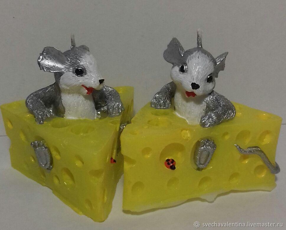 Новогодние свечи Мышь в сыре, Свечи, Шебекино,  Фото №1