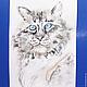 Животные ручной работы. Акварель Кот серый, по прозвищу Китайский лев.. Веселое настроение от Лизы Савчук. Ярмарка Мастеров.