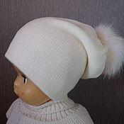 Аксессуары handmade. Livemaster - original item Cap of wool blend yarn and acrylic yarn