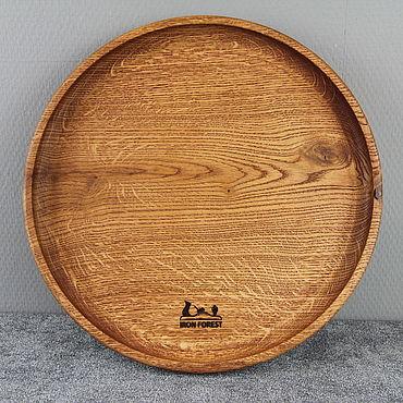 Посуда ручной работы. Ярмарка Мастеров - ручная работа Доски: Блюдо круглое. Handmade.