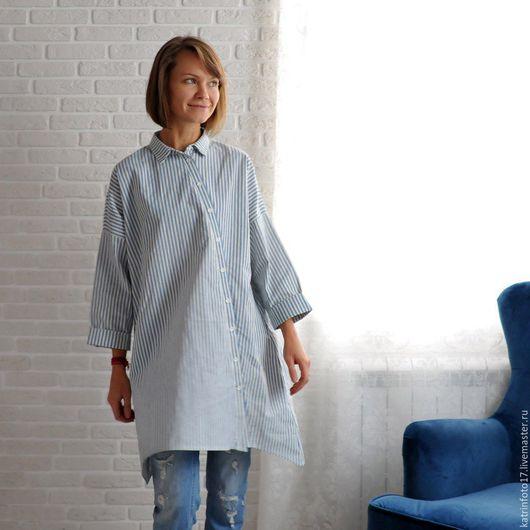 """Платья ручной работы. Ярмарка Мастеров - ручная работа. Купить Рубашка-платье """"с чистого листа"""" хлопок. Handmade. Белый"""