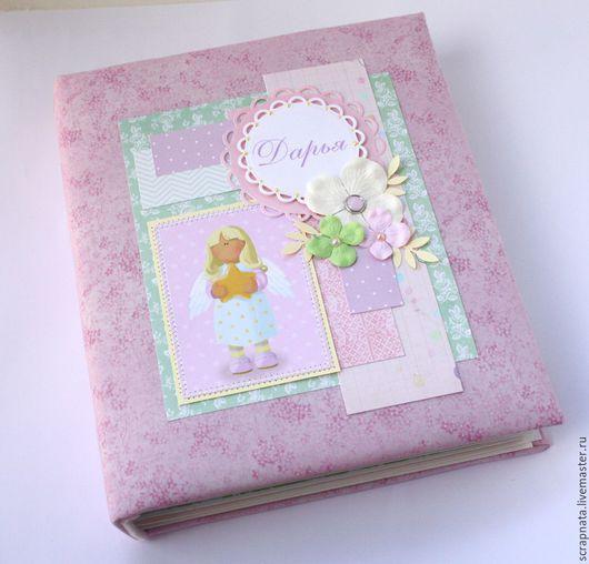 Фотоальбомы ручной работы. Ярмарка Мастеров - ручная работа. Купить Альбом для девочки  с рождения до года. Handmade. Бледно-розовый