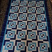 Для дома и интерьера ручной работы. Ярмарка Мастеров - ручная работа Анютины глазки лоскутное одеяло. Handmade.