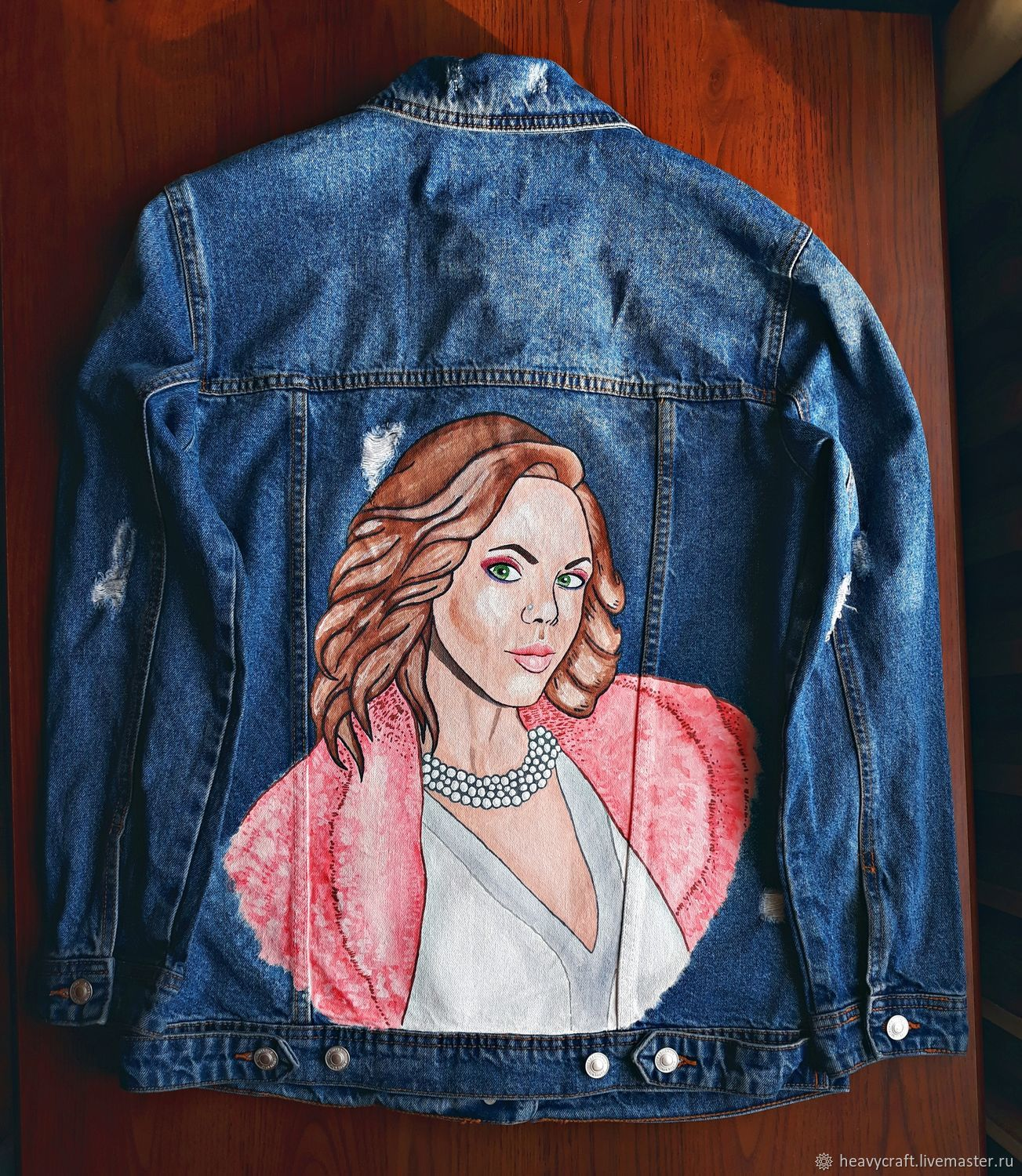 Hand-painted jeans on the portrait, Outerwear Jackets, St. Petersburg,  Фото №1