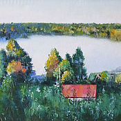 Картина маслом Туман над озером