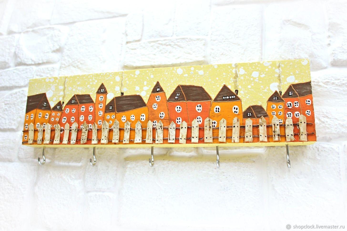 Housekeeper-hanger with hand-painted Orange houses, Housekeeper, Novosibirsk,  Фото №1