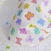 """Работы для детей, ручной работы. Ярмарка Мастеров - ручная работа Косынка на резинке """"Радужные бабочки"""".. Handmade."""