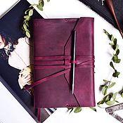 Канцелярские товары handmade. Livemaster - original item Leather cover for diary or cgi dimensionless. Handmade.