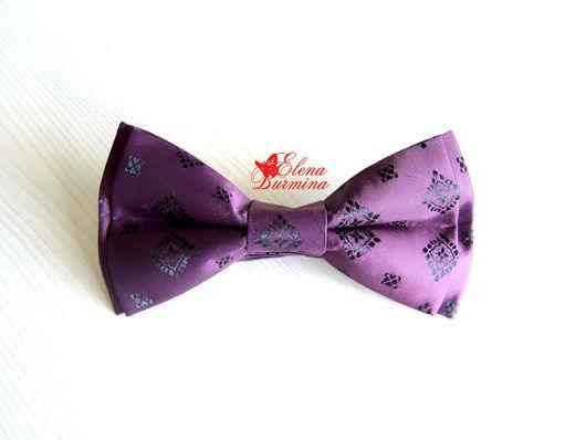 Галстуки, бабочки ручной работы. Ярмарка Мастеров - ручная работа. Купить Бабочка галстук фиолетовый. Handmade. Тёмно-фиолетовый, абстрактный